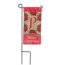 Mini Merry Christmas Monogram P