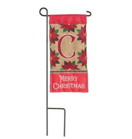 Mini Merry Christmas Monogram C