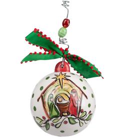Oh Come Let Us Adore Him Ornament