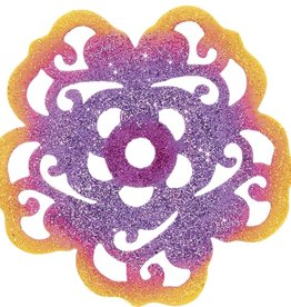 Orange/Purple Flower Patio/Screen Decor