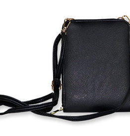 Black Vertical Crossbody Bag