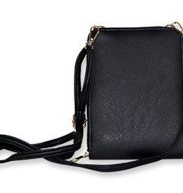 Black Vertical Crossbody Bag
