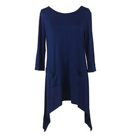 Hello Mello 3/4 Sleeve Lounge Top NAVY (M)