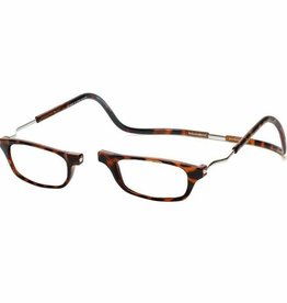 Clic Reading Glasses Dark Demi Expandable 2.5
