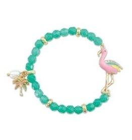 Bracelet-Flamingo with Aqua
