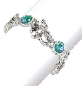 Bracelet-Mermaid Aqua Scale Beads