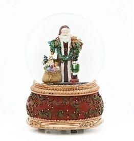 "6"" Santa w/Toys Music Snow Globe"