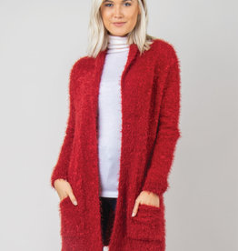 Holiday Cardigan S/M Red
