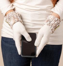 Heathered Gloves White