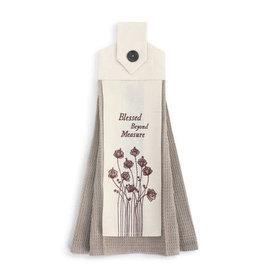 Blessed Beyond Meassure Button Loop Tea Towel
