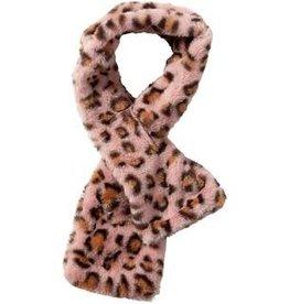 Tawny Stella Fuzzy Leopard Scarf