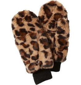 Tawny Stella Fuzzy Leopard Mittens