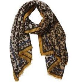 Camel Leopard Scarf