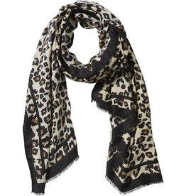 Ecru Leopard Scarf