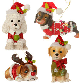"RAZ Imports 4.5"" Dog Ornament (eaches)"