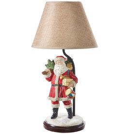 """RAZ Imports 19"""" Santa Lamp with Shade"""