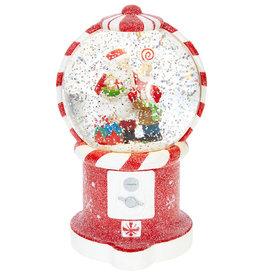 "RAZ Imports 7.5"" Santa in Gumball Water Globe"