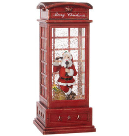 "RAZ Imports 10"" Santa in Lighted Water Booth"
