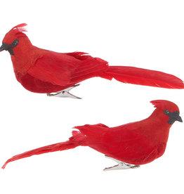 "RAZ Imports 7"" Clip-On Cardinal Ornament (eaches)"