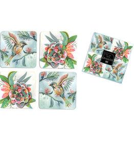 Bird/Flower Coaster Set