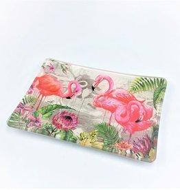 Flamingo Rectangle Glass Soap Dish