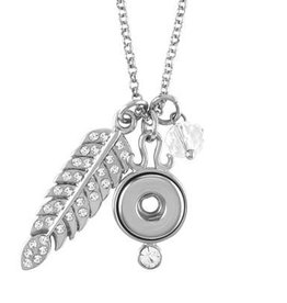 Gingersnap Petite Necklace - Feather Charm