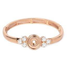 Gingersnap Petite Bracelet - Lyra Bangle Rose Gold