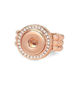 Gingersnap Petite Ring - Bling Stretch Rose Gold