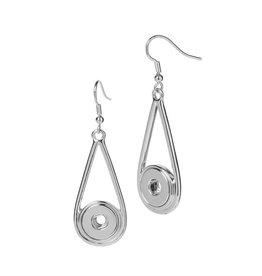 Gingersnap Petite Earrings - Raindrop Silver