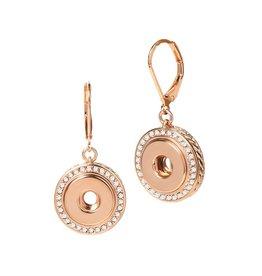 Gingersnap Petite Earrings - Bling Dangle Rose Gold