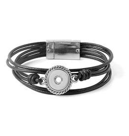 Gingersnap Petite Bracelet - Mini Black 6 Strand Magnetic
