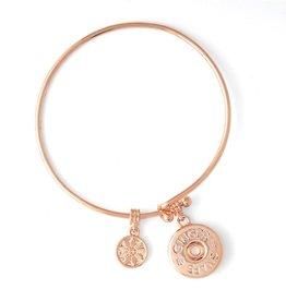 Gingersnap Regular Bracelet - Wire Bangle Rose Gold