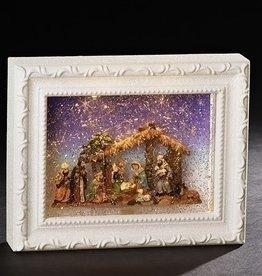 "9.5"" LED Nativity White Lantern"