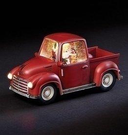 """6"""" Santa In Swirl Red Truck"""