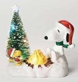 """4.5"""" LED Snoopy w/Campfire (Table Top)"""
