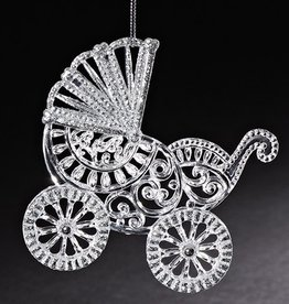 Baby Carriage Ornament Blue