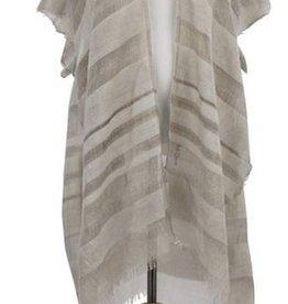 Sheer Stripe Duster - Tan