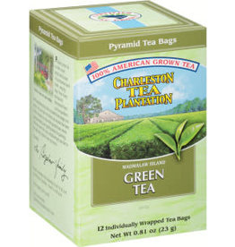Charleston Tea Bags Plantation Tea Green Tea Box of 12 Teabags