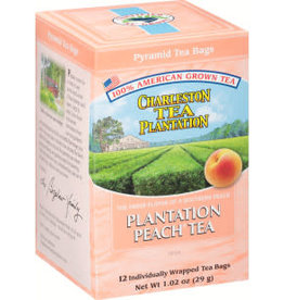 Charleston Tea Bags Plantation Peach Tea Box 12 Tea Bags