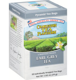 Charleston Tea Bags Earl Grey Tea Box 12 Tea Bags