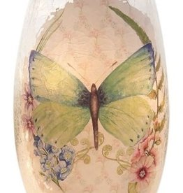 Pastel Butterflies Small Lighted Vase