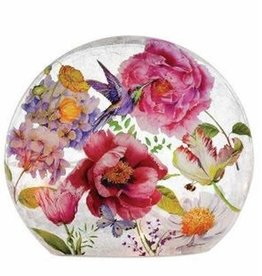 English Garden - Purple Humming Bird Lighted Globe