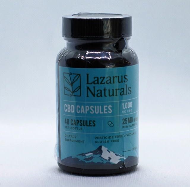 Lazarus Naturals Lazarus Naturals Standard Potency CBD Capsules