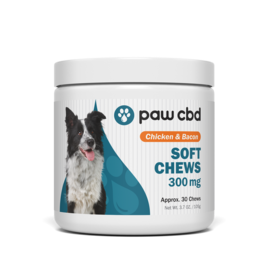 Paw CBD Soft Chews 300mg Chicken and Bacon