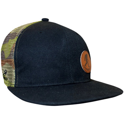 Flat Bill Trucker Hat BF Camo