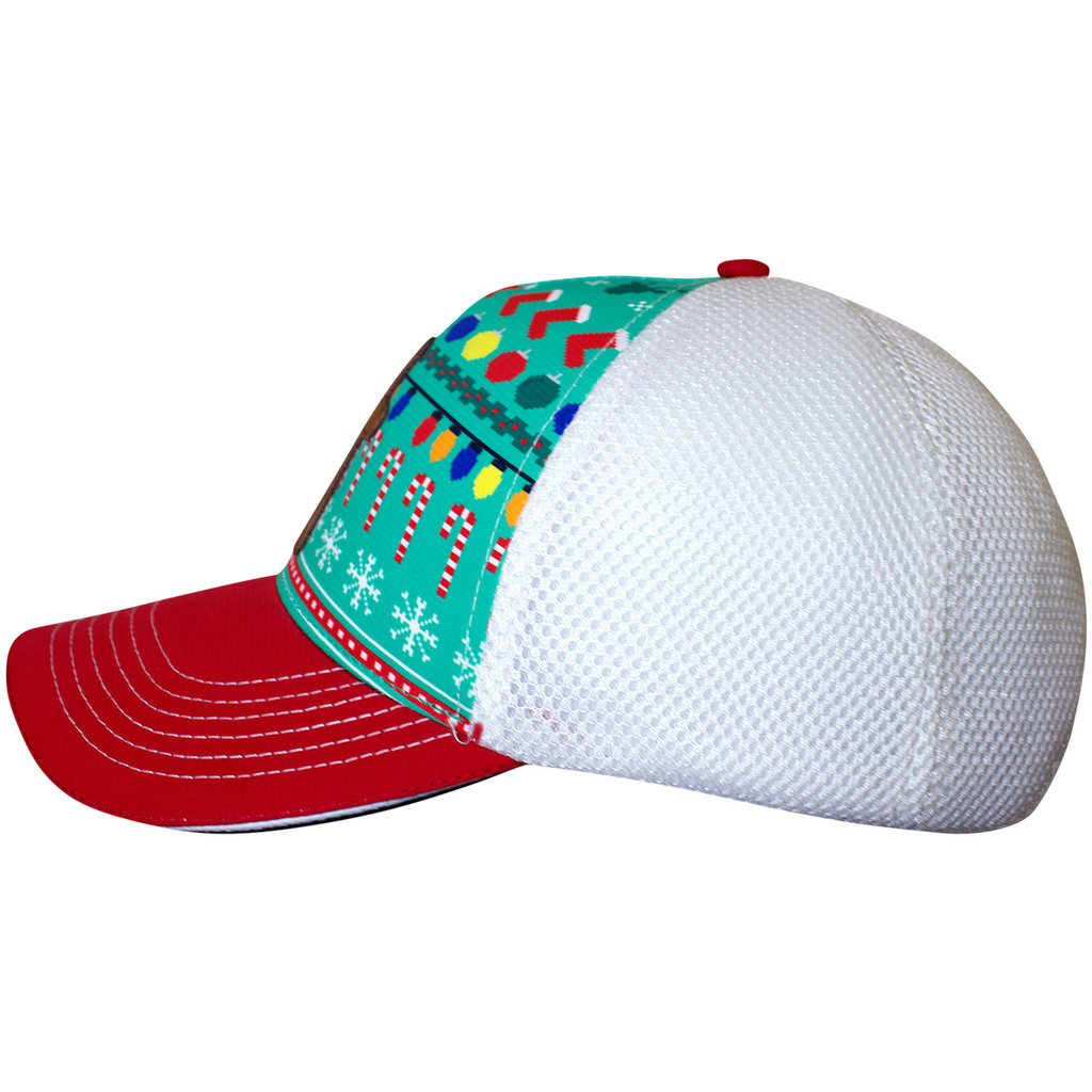 Trucker Hat Ugly Gingerbread Man White