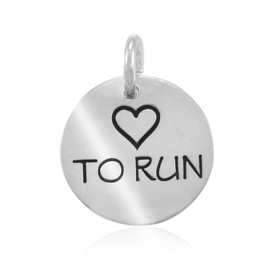 Lift Your Sole Heart To Run Charm