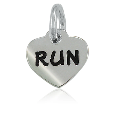 Lift Your Sole Run Heart Charm