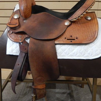 Tex Tan Used Tex Tan Barrel Saddle