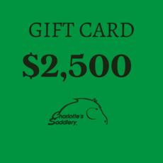 $2,500 Gift Card